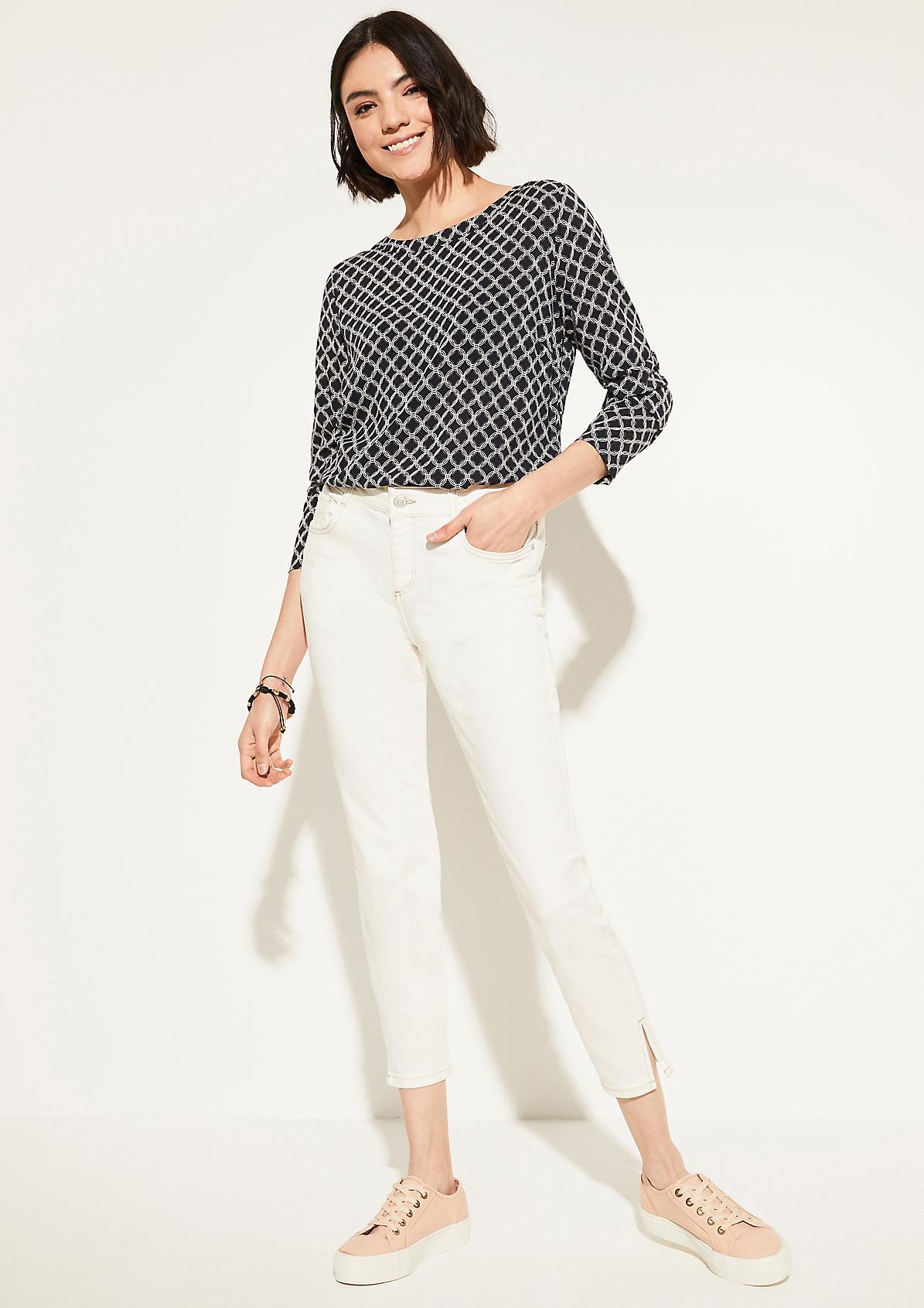 Bluse mit ornamentalem Allover-Print