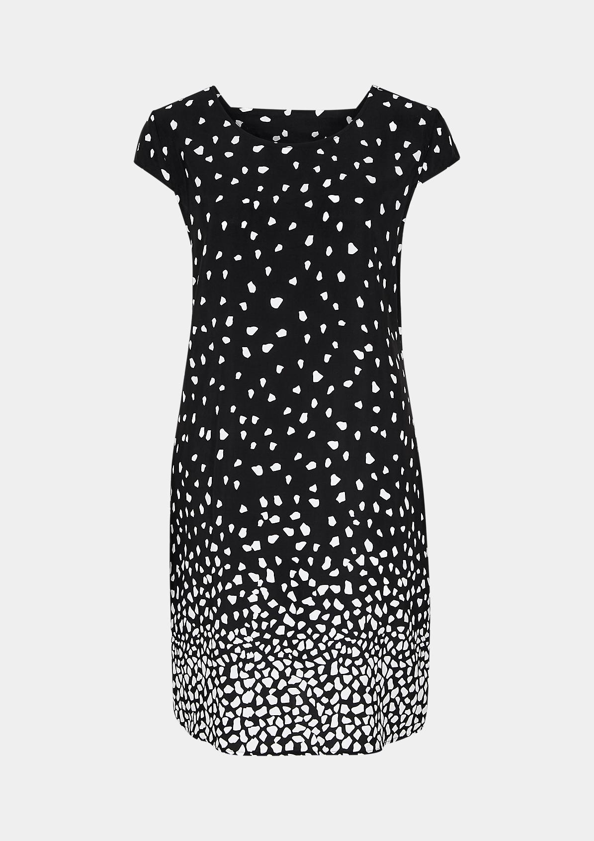 Crêpe-Kleid mit Rückenausschnitt
