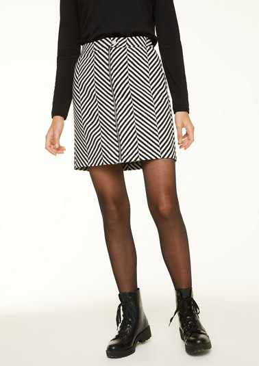 Striped skirt with zip from comma