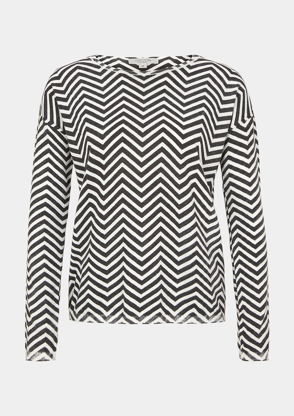 Pullover mit Inside Out-Print