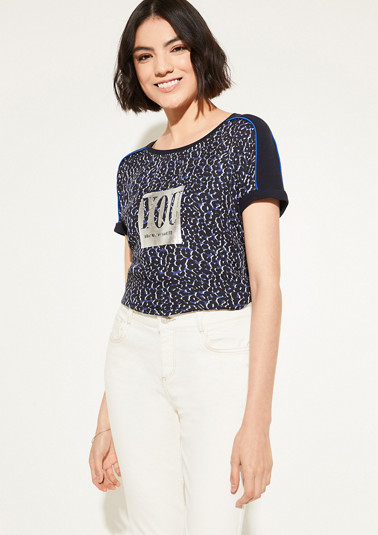 Shirt mit Metallic-Print