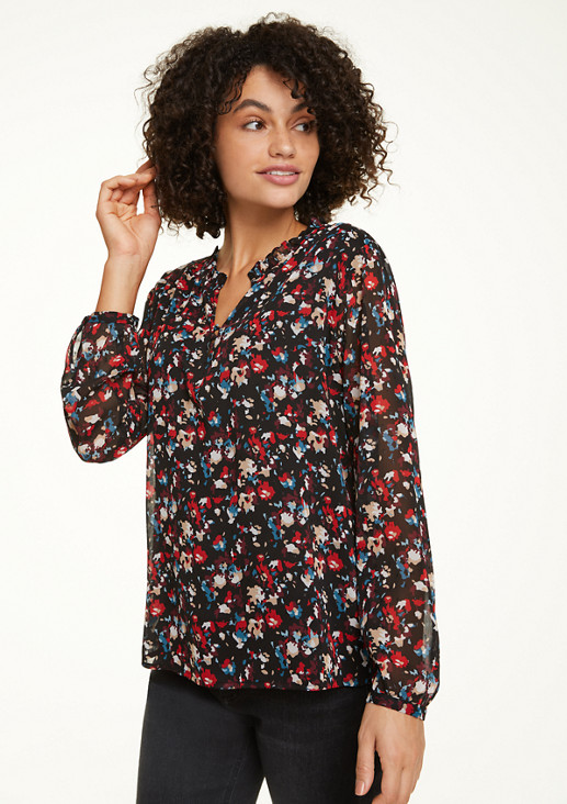 Plumetis-Bluse mit Allover-Muster