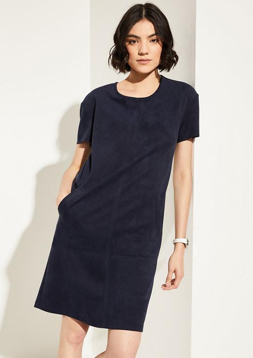 Kleid in Veloursleder-Optik