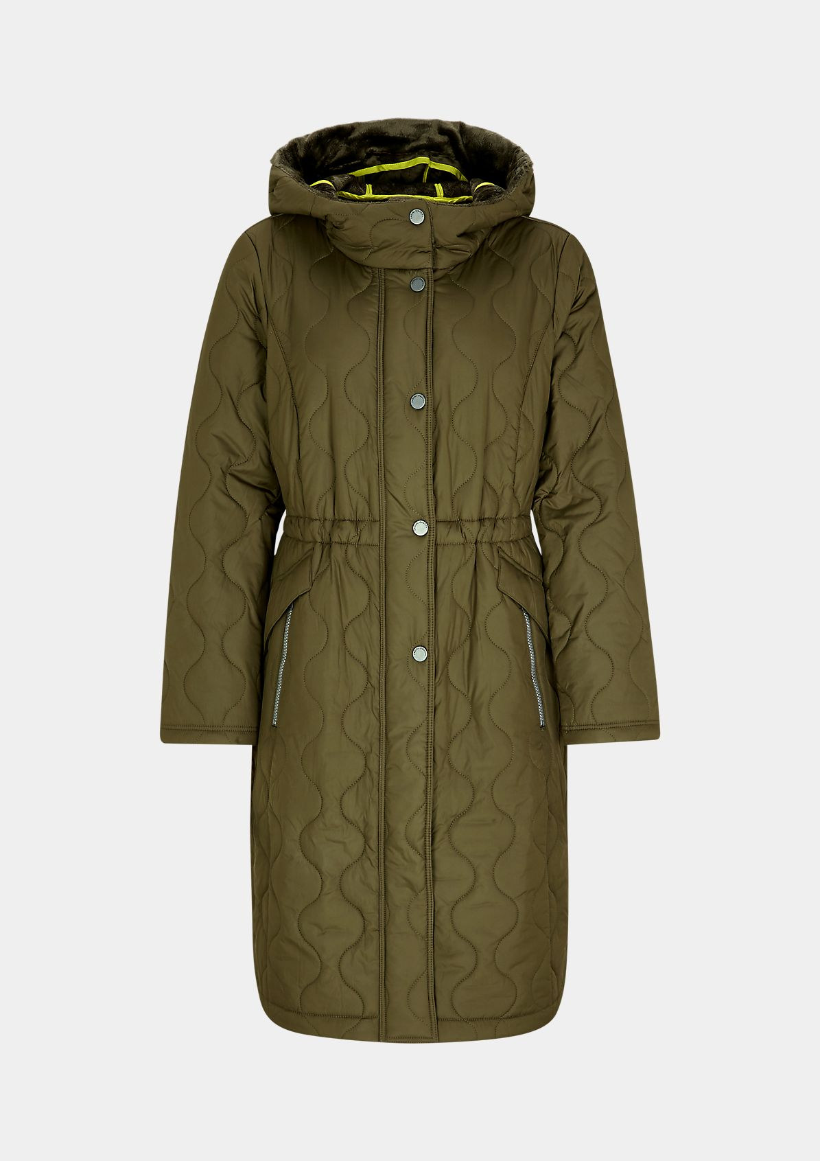 Soft lined wavy quilt parka from comma