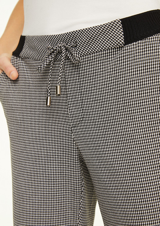 Regular fit: houndstooth trousers from comma