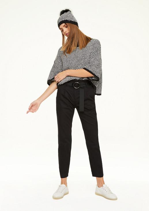 Regular Fit: Hose mit Paperbag-Bund