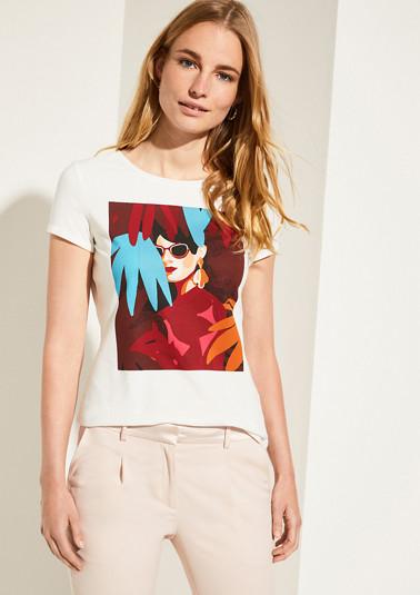T-Shirt mit modischem Frontprint