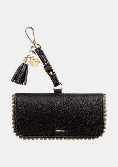 Sunglass case with charms from comma