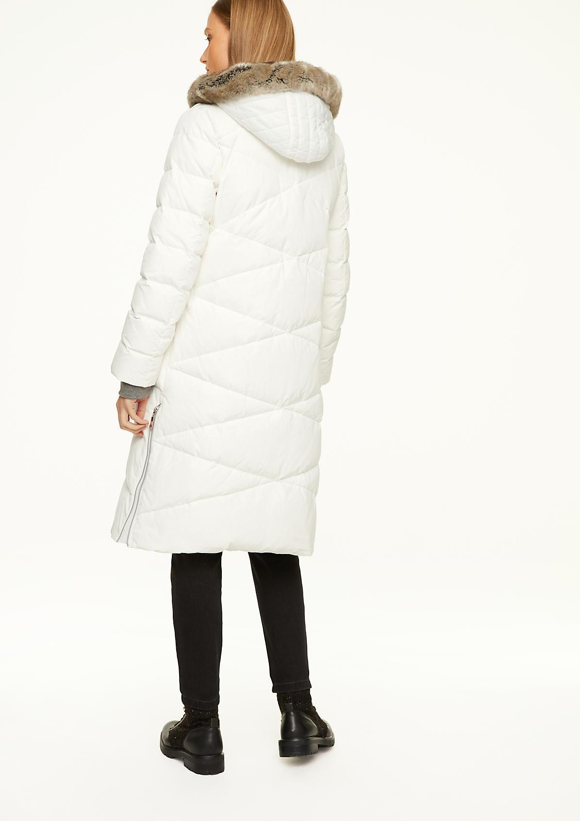 Mantel mit abnehmbarem Fake Fur-Detail