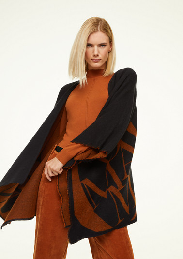 Cape mit Label-Print
