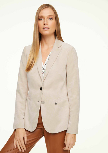 Blazer with shiny silver buttons from comma