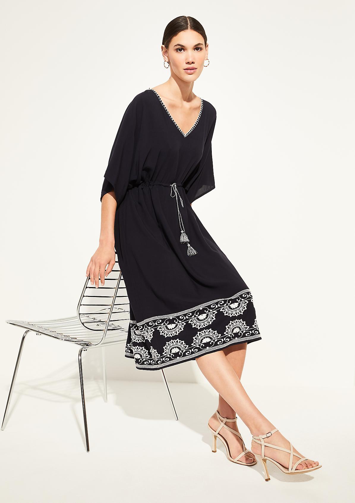 Tunikakleid aus Viskose