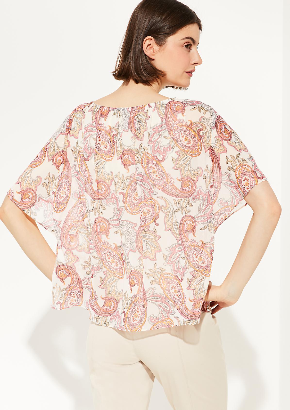 Chiffon-Bluse mit Paisley-Muster