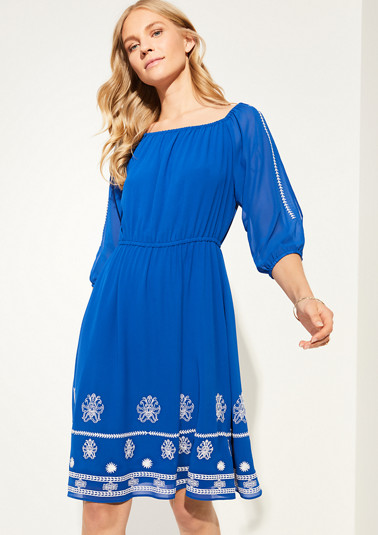 Dress with slit sleeves from comma