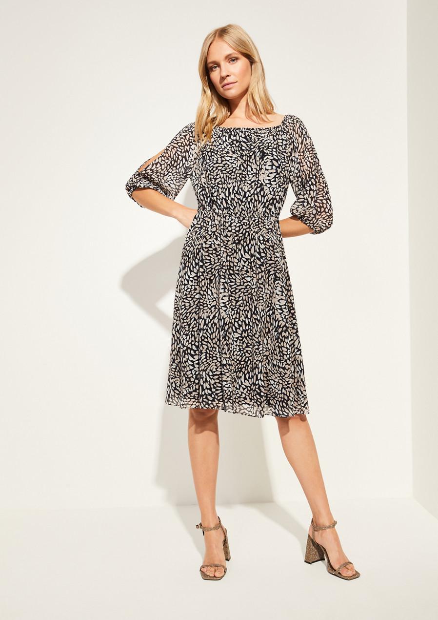 comma Kleid mit geschlitzten Ärmeln