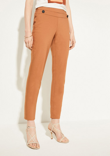 Slim fit: cigarette trousers from comma
