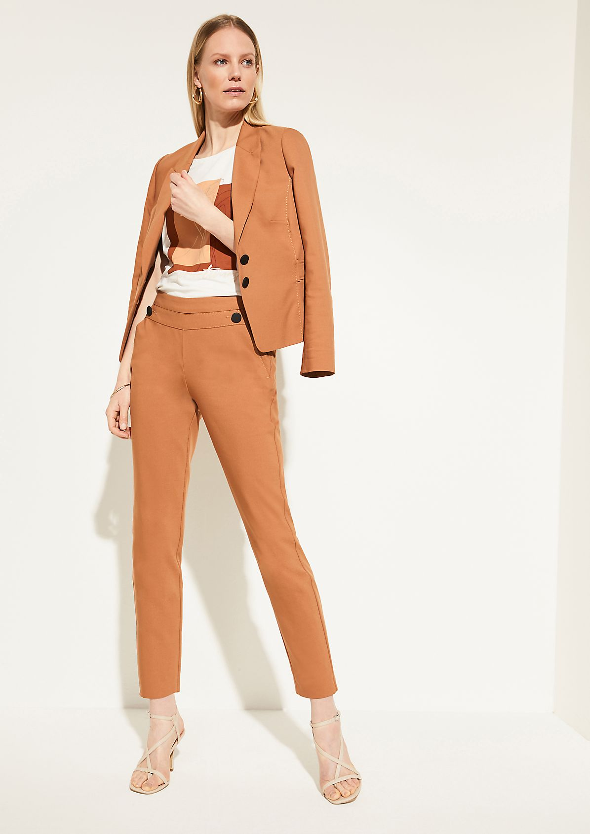 Slim Fit: Cigarette-Pants