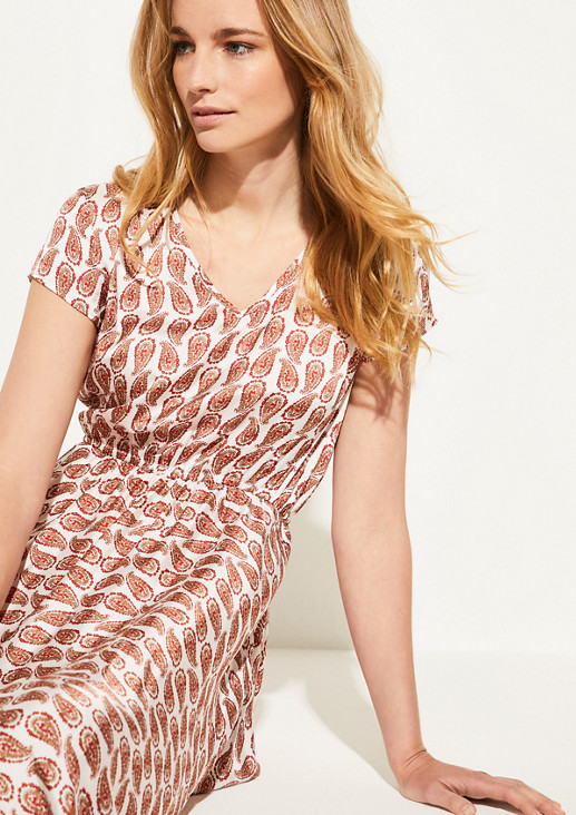 Dress with a silky matte finish from comma