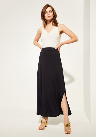 Slit skirt in a maxi length from comma