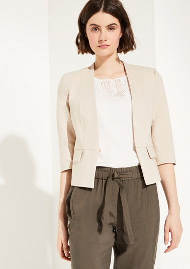 Short blazer with 3/4-length sleeves from comma