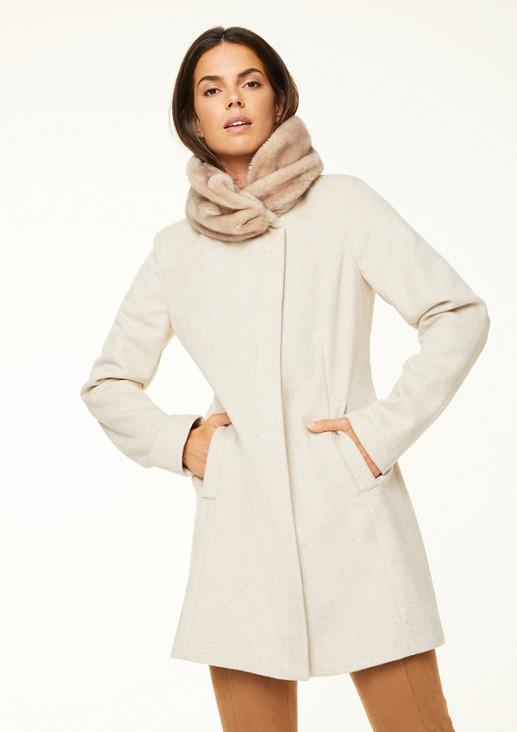 Mantel mit Fake Fur-Kuschelkragen