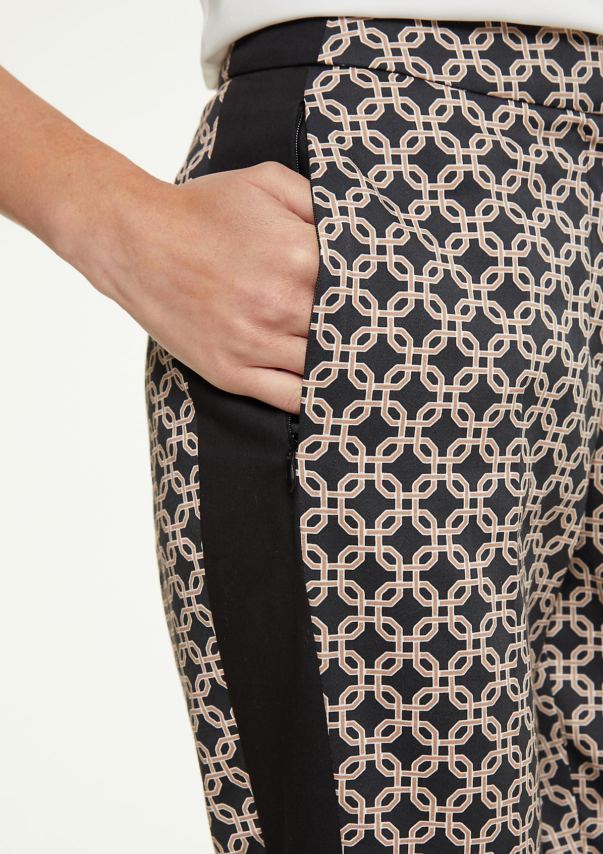 Printmuster-Hose aus Baumwollsatin