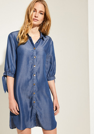 Lightweight denim dress made of lyocell from comma