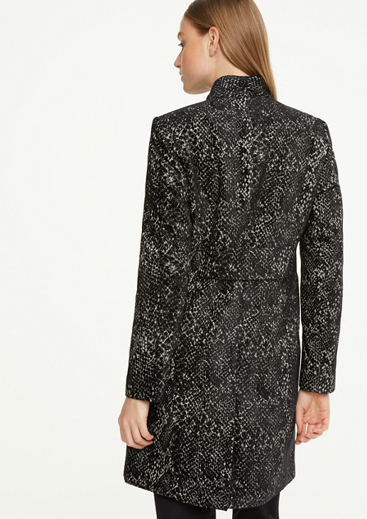 Short coat with animal pattern from comma