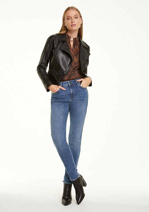Skinny Fit: jeans with a decorative detail from comma
