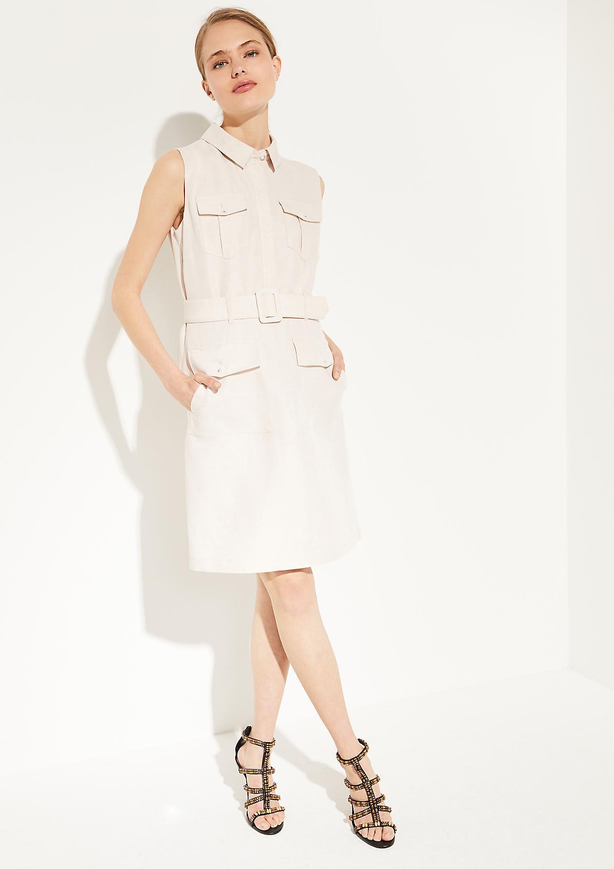 Elegantes Kleid aus Leinen-Mix