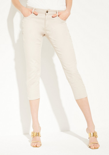 Slim fit: Twill capri trousers from comma
