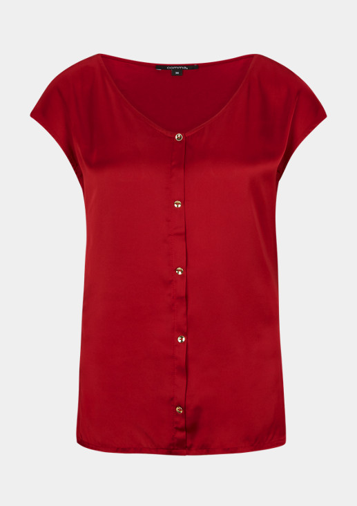 T-shirt with a satin front from comma