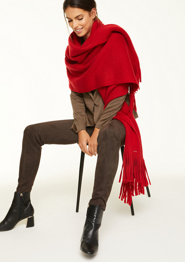 XXL scarf with a wool effect from comma