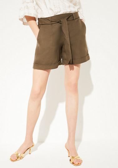 Regular Fit: blended linen shorts from comma