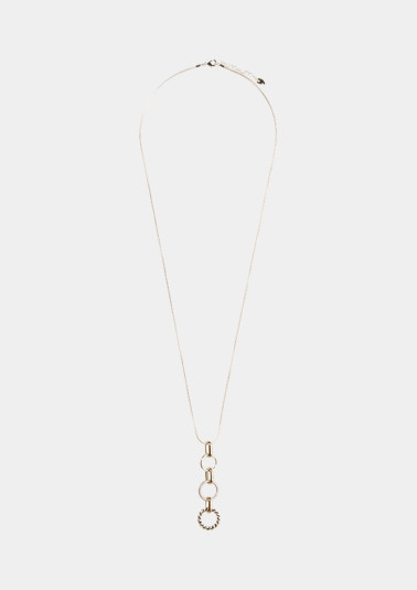 Silver-coloured necklace in a two-tone design from comma