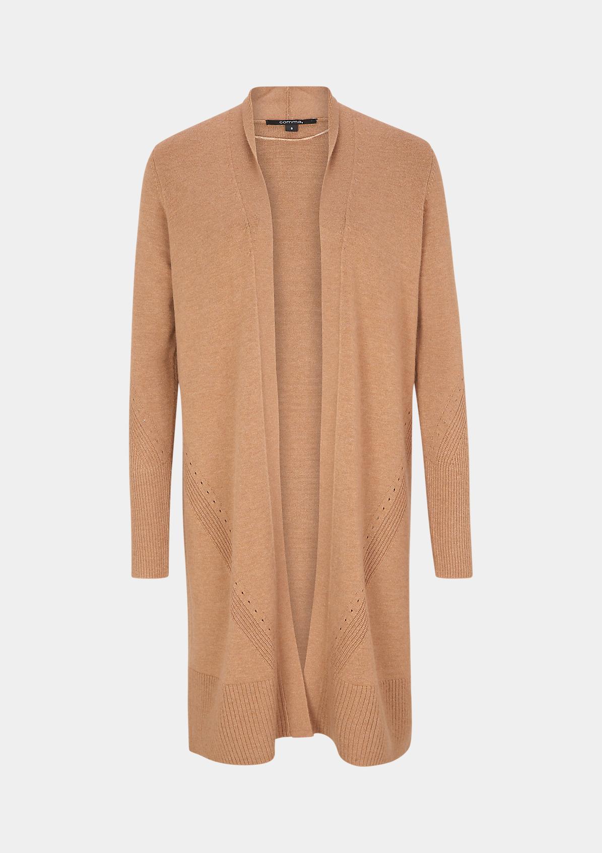 Open Front-Cardigan aus weichem Feinstrick