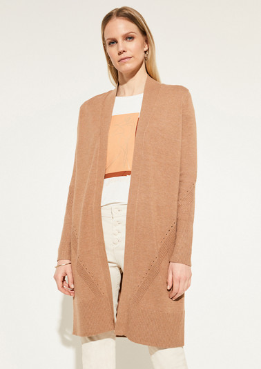Open-fronted cardigan in a soft, fine knit finish from comma
