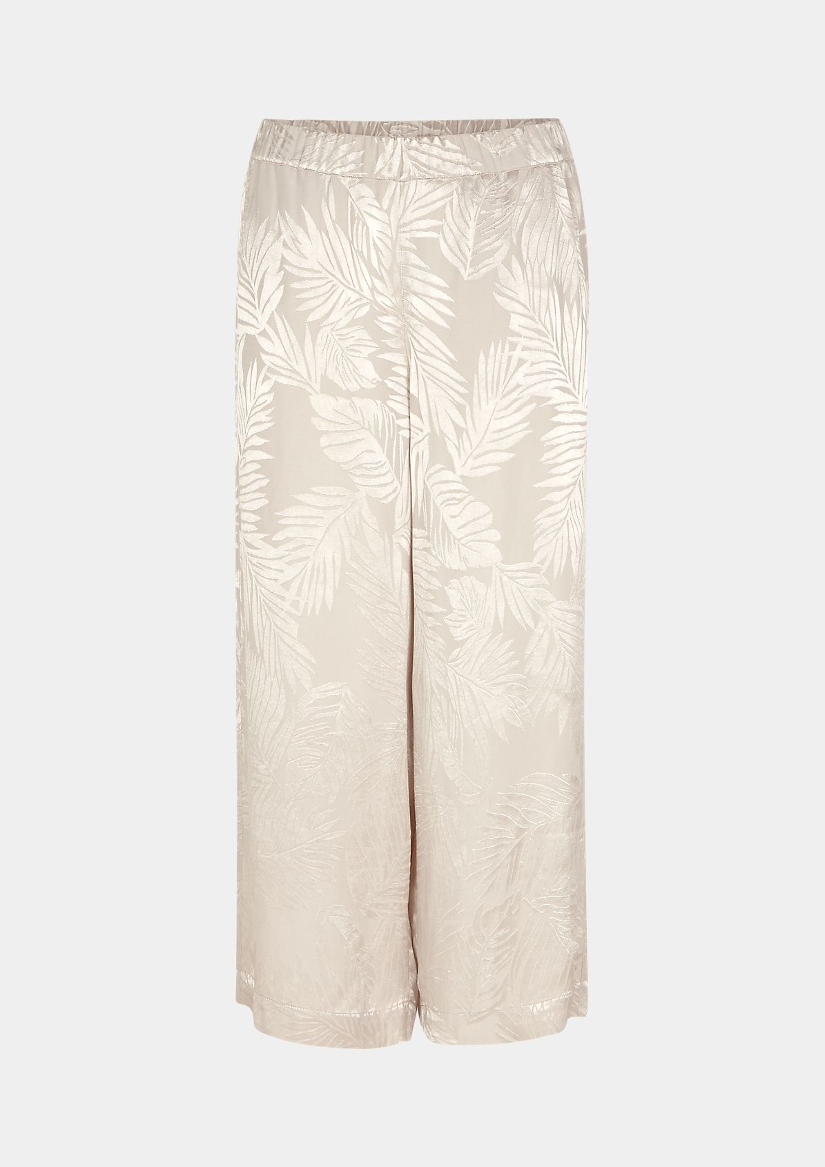 Culottes made of jacquard satin from comma