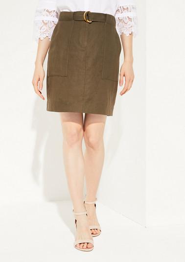Lightweight, blended linen skirt from comma
