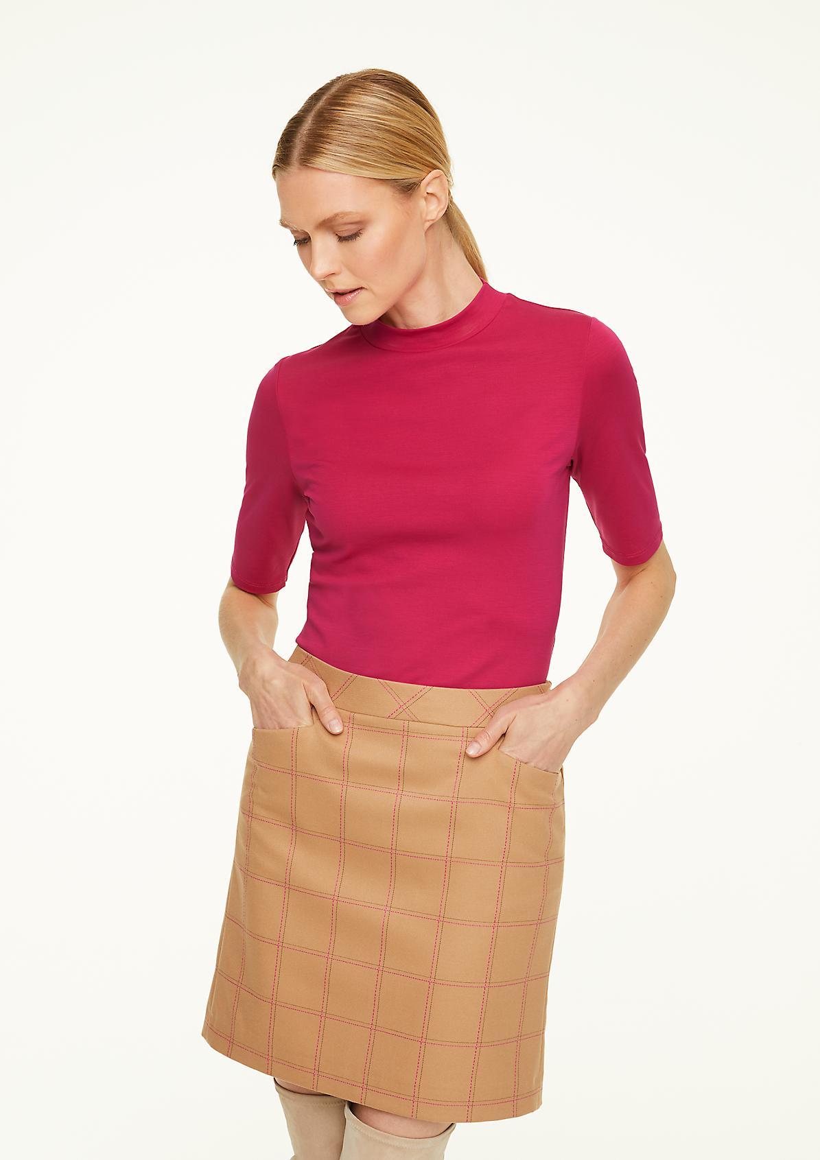 Jersey-Shirt mit halblangem Arm