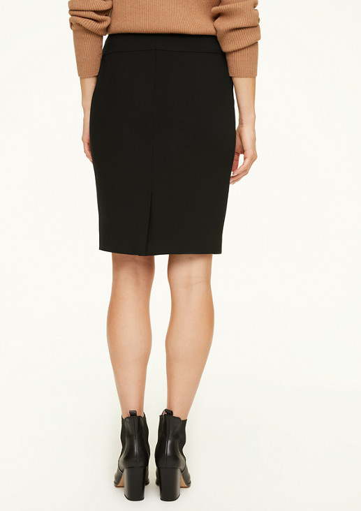 Pencil skirt with decorative strap from comma