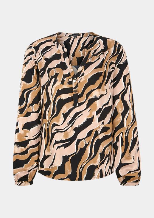 Tunika-Bluse mit Allover-Print