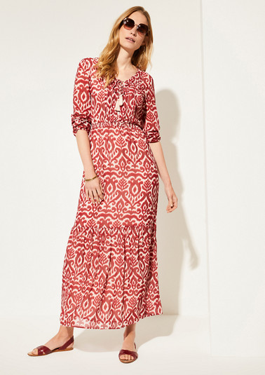 Maxikleid mit Allover-Print
