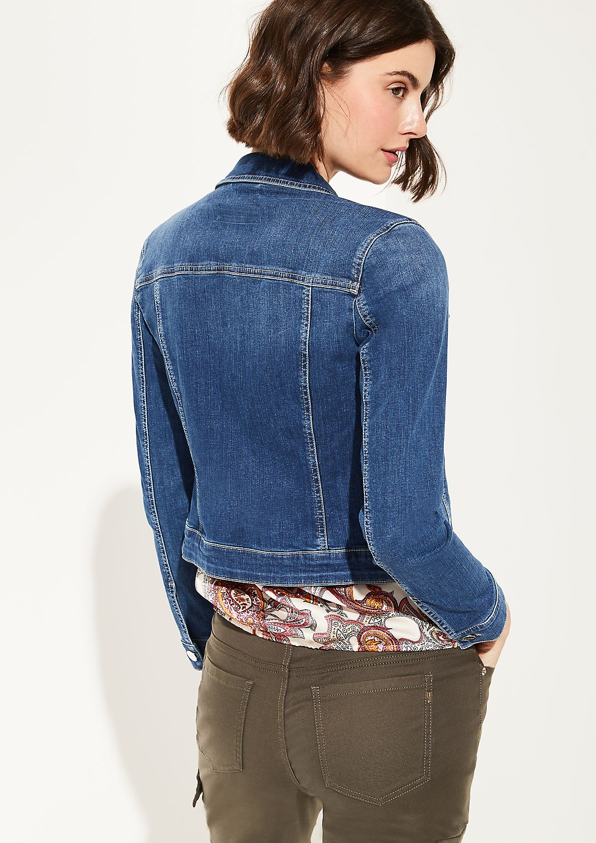 Short stretch denim jacket from comma
