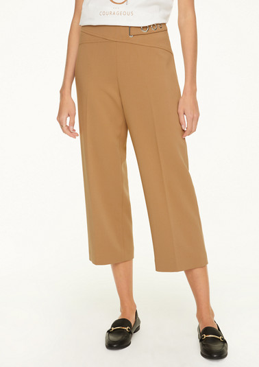 Regular fit: Culottes with decorative straps from comma