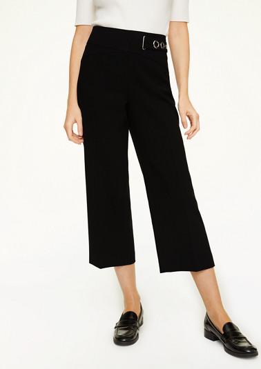 Regular Fit: Culotte mit Zier-Riegel