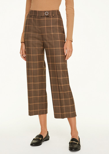 Regular Fit: Straight crop leg-Hose