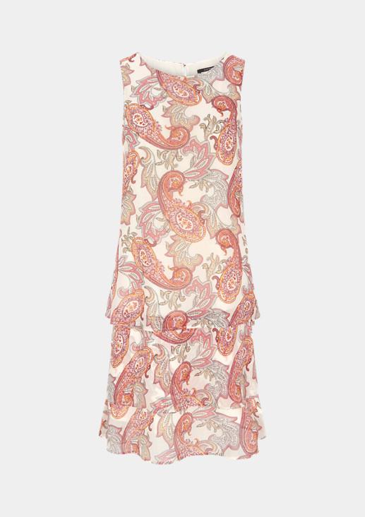 Chiffon-Kleid mit Paisley-Muster