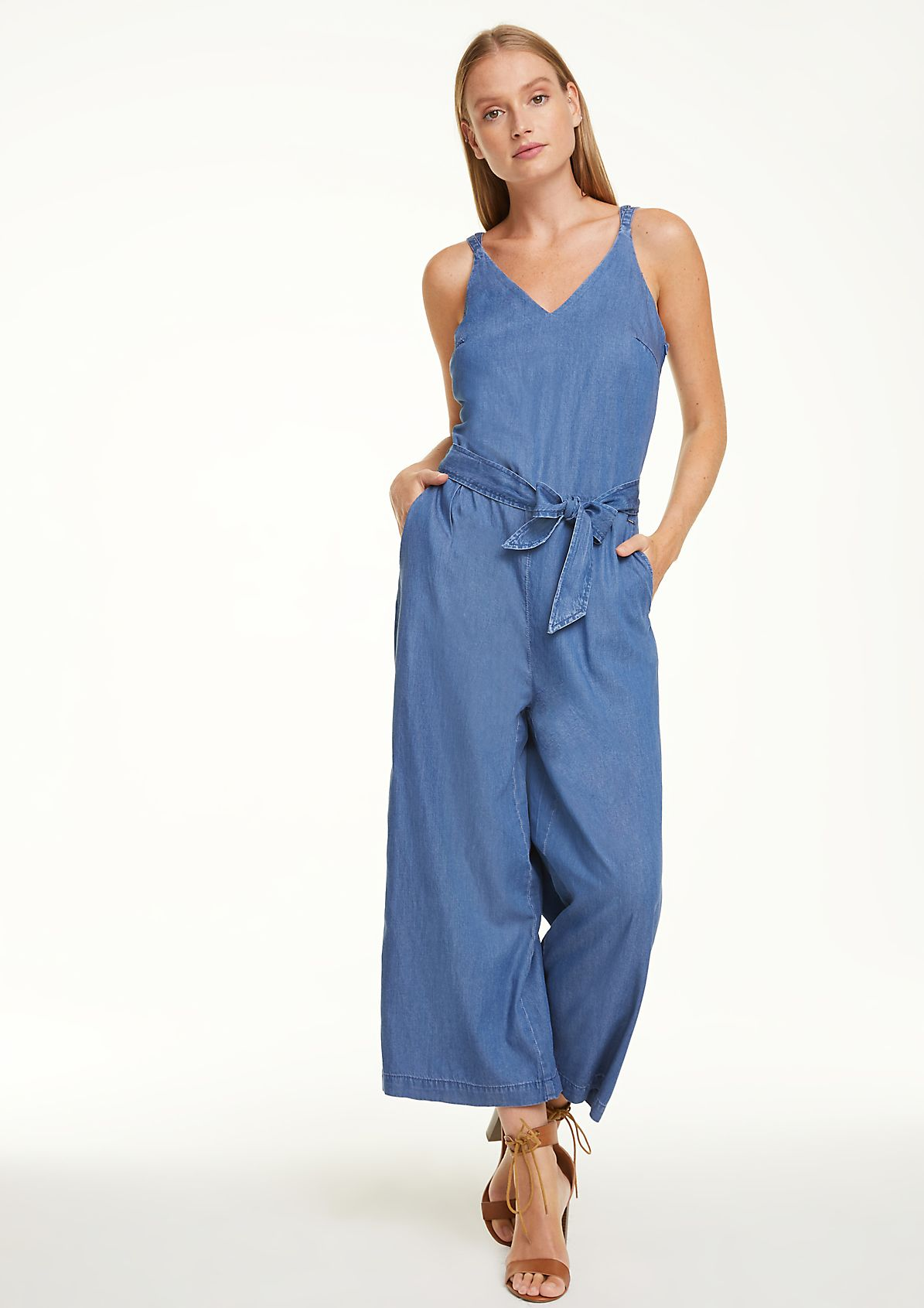 Denim Playsuit with Wrap Skirt Size LXL