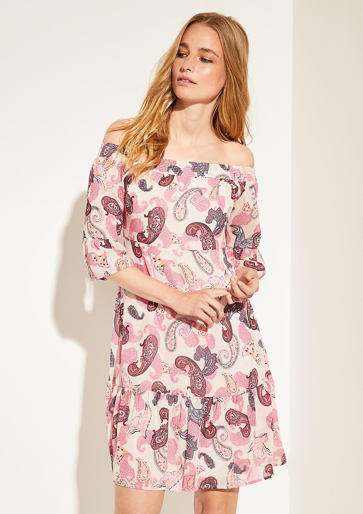 Fließendes Kleid aus Chiffon
